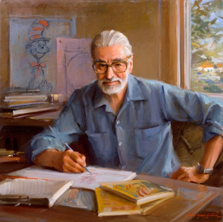Everett Raymond Kinstler, Theodor Geisel, Dr. Seuss, 1982. Oil on canvas. 38 x 36 inches. Collection of the Hood Museum of Art, Dartmouth College, Hanover, New Hampshire. Commissioned by the Trustees of Dartmouth College.