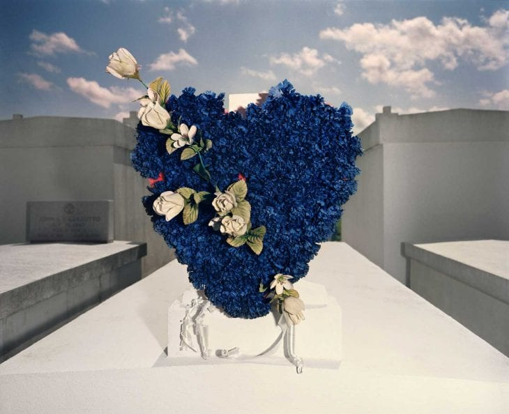 William Greiner, Blue Heart, Houma, Louisiana, 1989. Digital C-print. Morris Museum of Art, Augusta, Georgia. Gift of William Greiner.