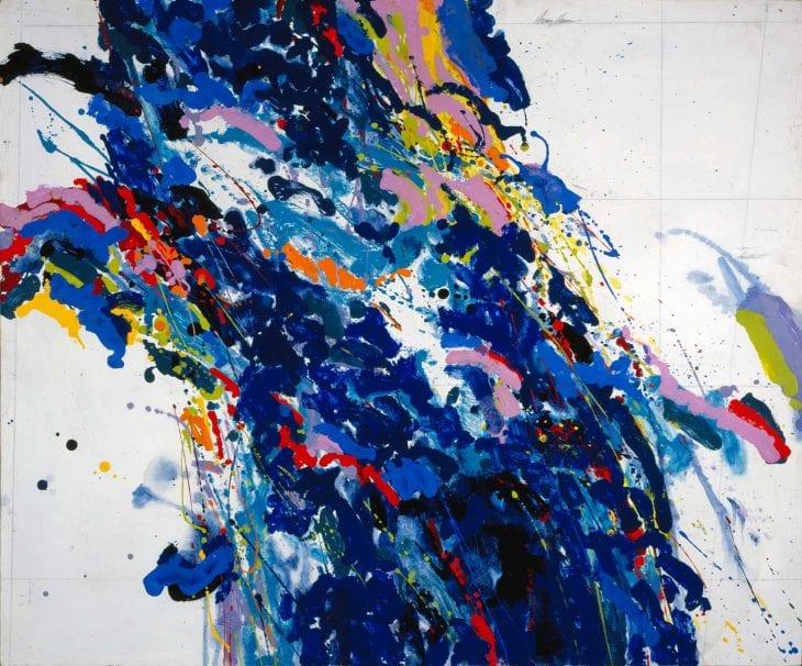Harold John Hansen, Abstraction—Blue, undated. Acrylic on board. Morris Museum of Art, Augusta, Georgia. Gift of the Robert Powell Coggins Art Trust.