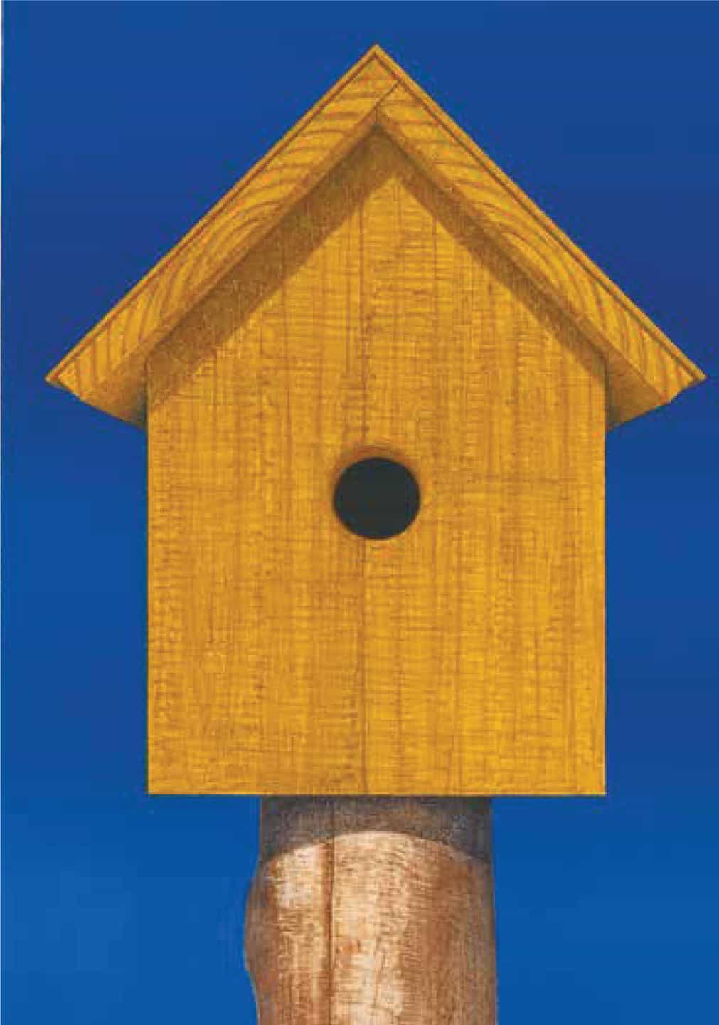 Edward Rice, <em>Birdhouse</em>, 1996. Lithograph in three colors on arches paper. Gift of the artist.