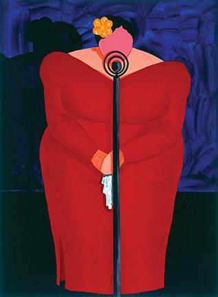 Jonathan Green, <i>Bessie Mae,</i> 1995. Lithograph/Linocut, 42½ x 31½. © Jonathan Green.